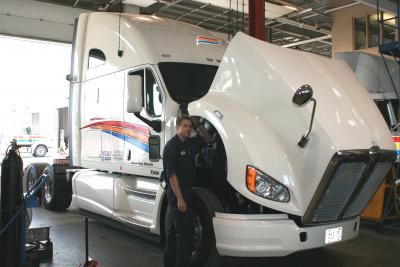 transport truck maintenance at challenger