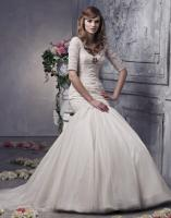 Anjolique wedding gown with sleeves