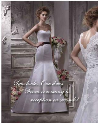 Anjolique bridal gown; one dress, two ways