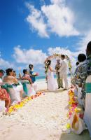 beach wedding in white sand