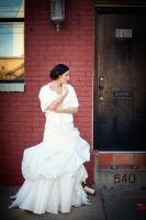 Lauren in her Anjolique wedding gown