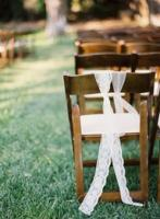 Lace wedding chair blow